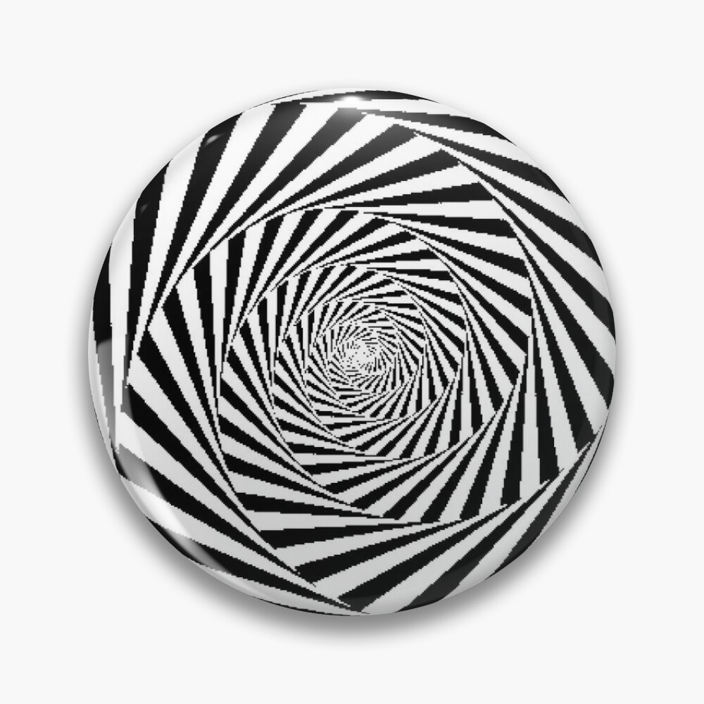 Optical Illusion Beige Swirl,  ur,pin_large_front,square,1000x1000