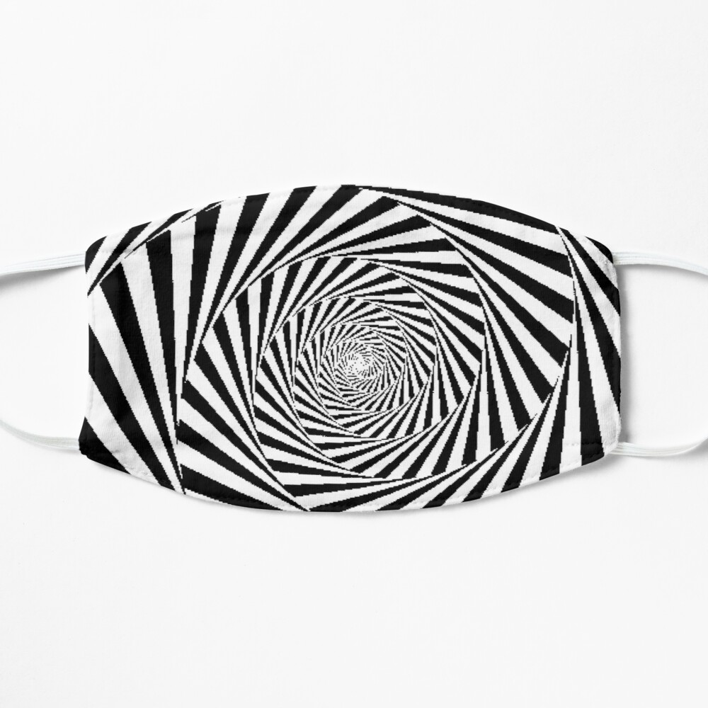 Optical Illusion Beige Swirl,  ur,mask_flatlay_front,product,1000x1000
