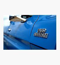 1977 Ford F 150 Custom Name Plate Photographic Print