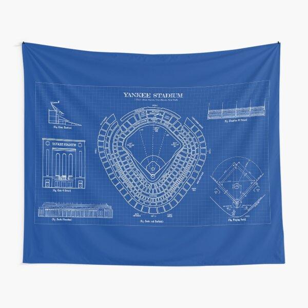 Yankee Stadium (Blueprint) Tapestry