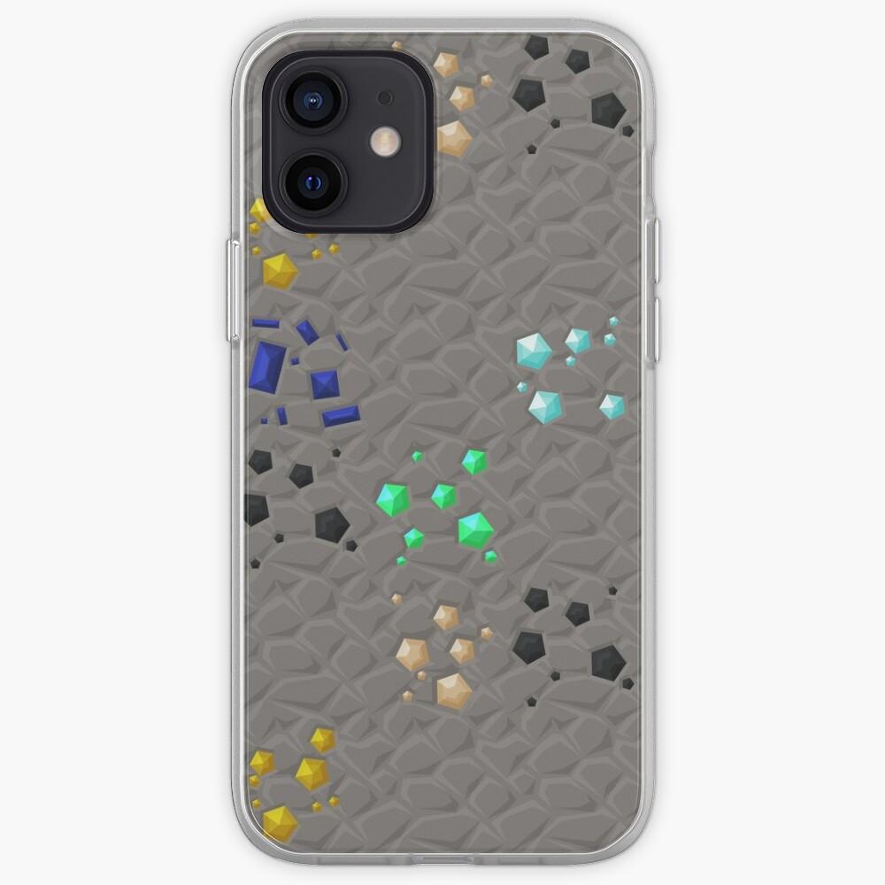 Overworld ores - PureBDcraft iPhone Case & Cover