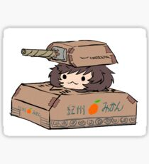 Yukari's cardboard tank Sticker