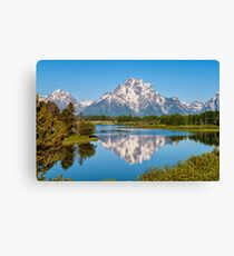Mount Moran on Snake River - Grand Teton National Park Canvas Print
