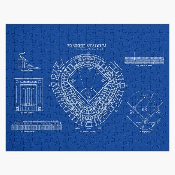 Yankee Stadium (White Stencil-No Background) Jigsaw Puzzle