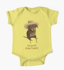 Howdy Pawtner! #RedbubbleArtParty Kids Clothes