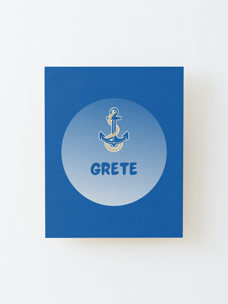 Alternate view of Grete Mounted Print