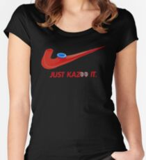 Kazoo kid - Just Kazoo It (Nike style) (faced) Women's Fitted Scoop T-Shirt