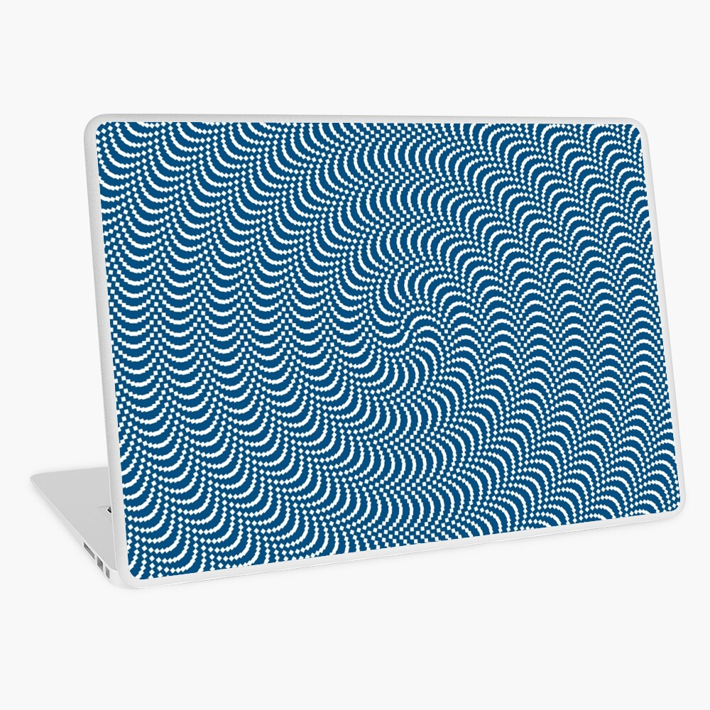 psychedelic Spiral in Blau Laptop Folie