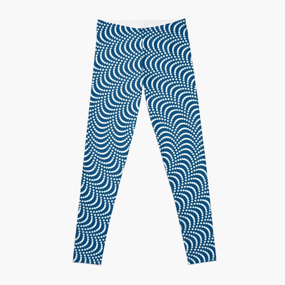 psychedelic Spiral in Blau Leggings