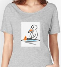 Penguin and fish Women's Relaxed Fit T-Shirt