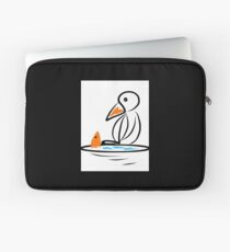 Penguin and fish Laptop Sleeve