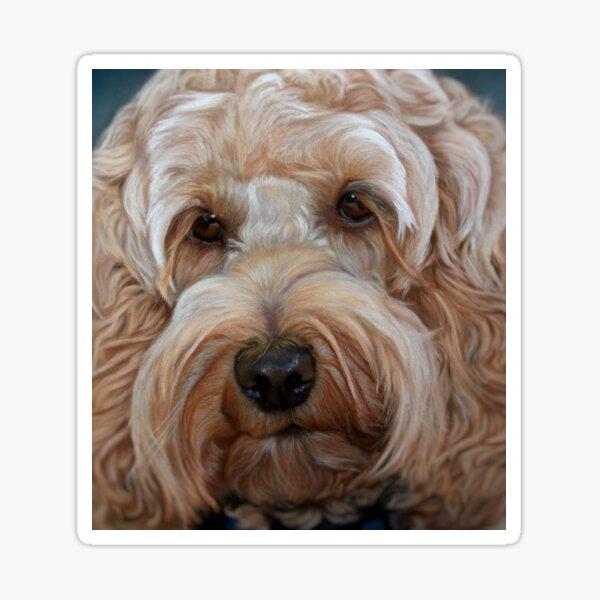Cockapoo Dog Painting Artwork Sticker