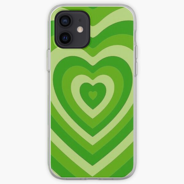 Corazones verdes Funda blanda para iPhone