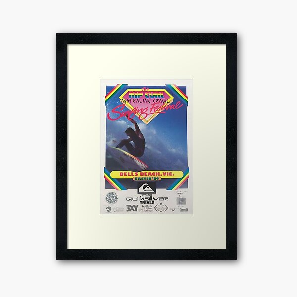 vintage australia surf poster 1984 Framed Art Print