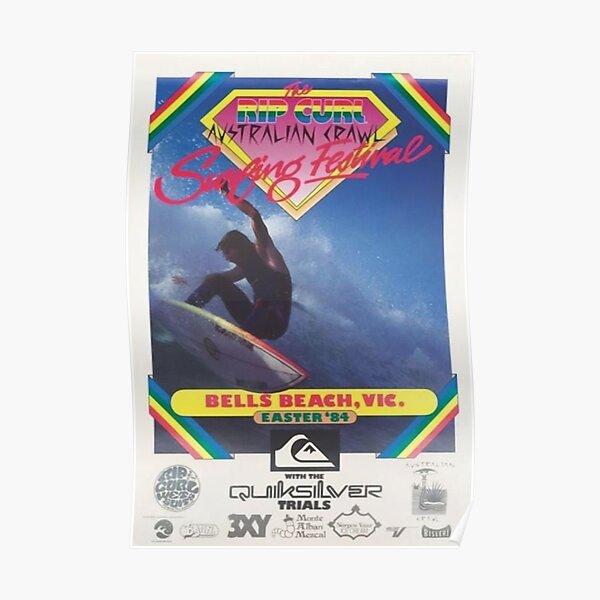 vintage australia surf poster 1984 Poster