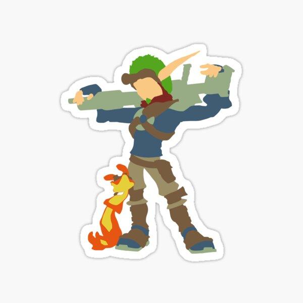 Jak and Daxter - Minimalist Sticker