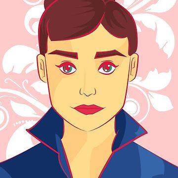 Audrey Hepburn by brendacv
