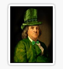 St Patrick's Day for Lucky Ben Franklin   Sticker