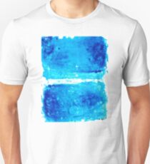 Blue Modern Art - Two Pools - Sharon Cummings T-Shirt