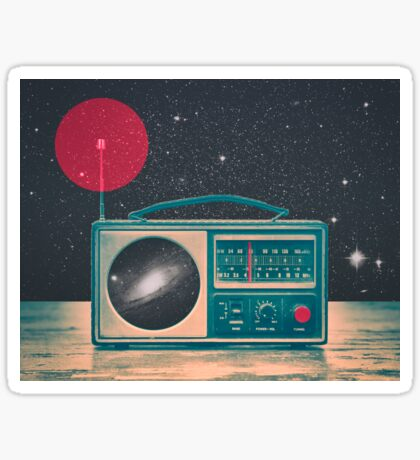 Space Radio Sticker