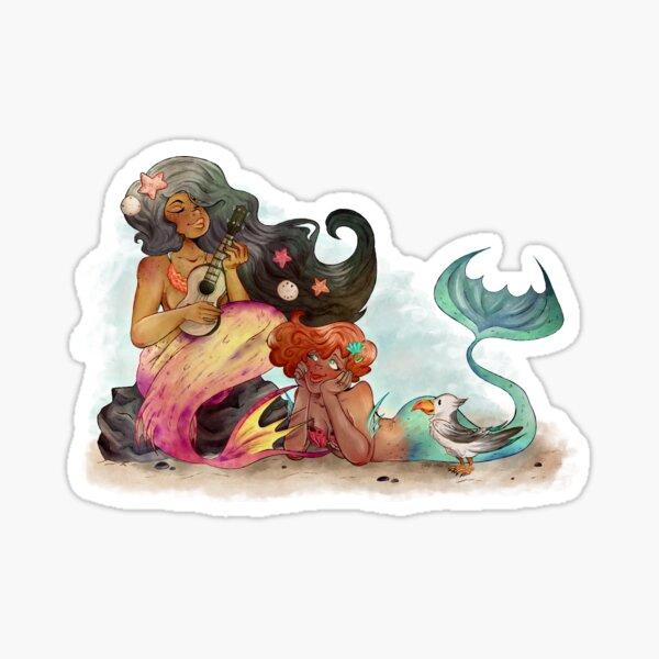 Ukelele Mermaids Sticker