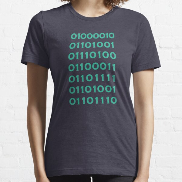 Bitcoin Binary (Silicon Valley) Essential T-Shirt
