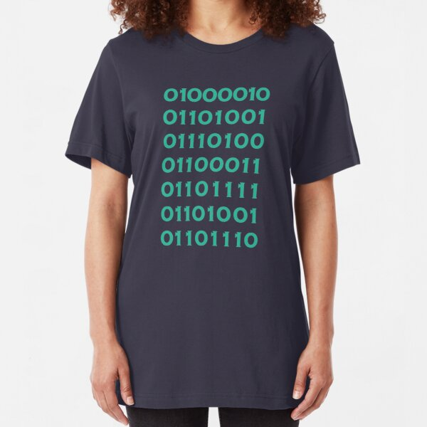 Bitcoin Binary (Silicon Valley) Slim Fit T-Shirt