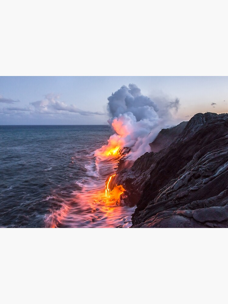 Kilauea Volcano Lava Flow Sea Entry 3- The Big Island Hawaii by brianharig