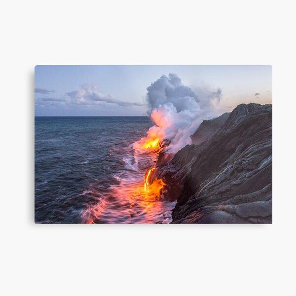Kilauea Volcano Lava Flow Sea Entry 3- The Big Island Hawaii Metal Print