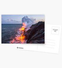 Kilauea Vulkan Lava Flow Sea Eintrag 3- Die Big Island Hawaii Postkarten