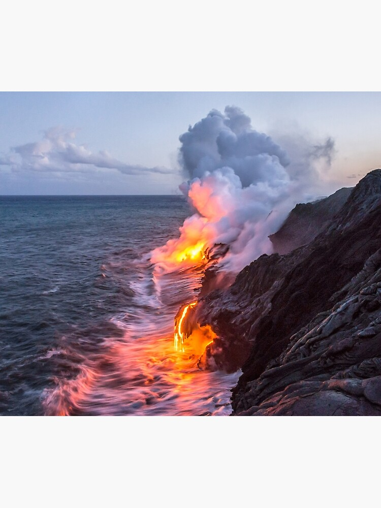 Kilauea Volcano Lava Flow Sea Entry 3- The Big Island Hawaii by brianharig