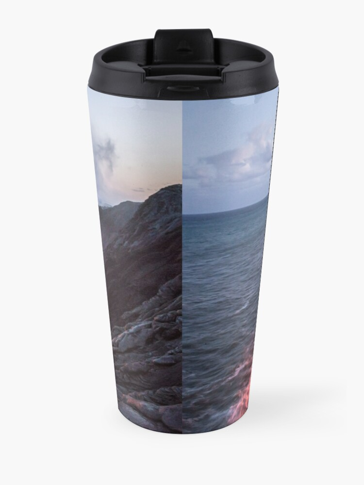 Alternate view of Kilauea Volcano Lava Flow Sea Entry 3- The Big Island Hawaii Travel Mug