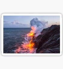 Kilauea Volcano Lava Flow Sea Entry 3- The Big Island Hawaii Sticker