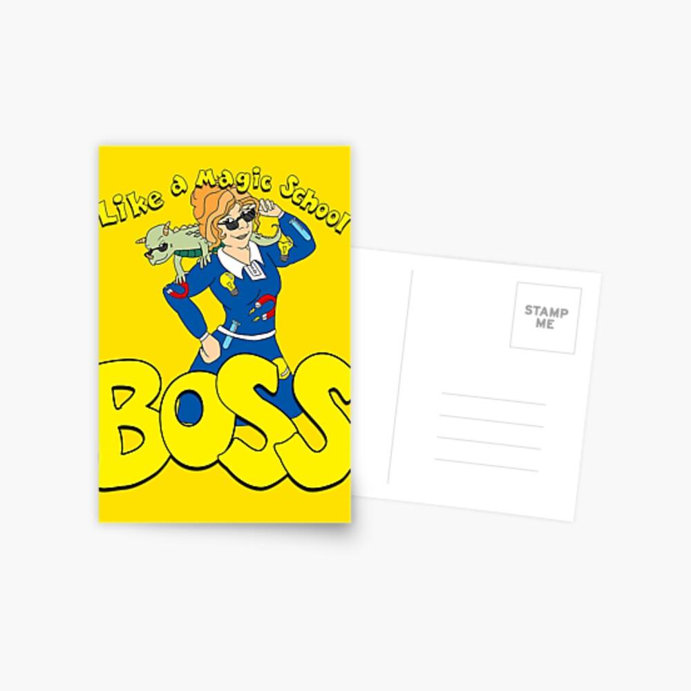 Wie ein magischer Schulchef Postkarte