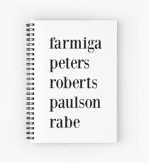 Ahs Cast - farmiga, peters, roberts, paulson, rabe Spiral Notebook