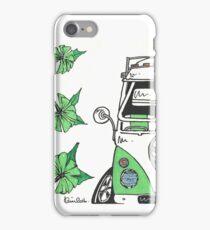 VW Camper Van Green Splity iPhone Case/Skin
