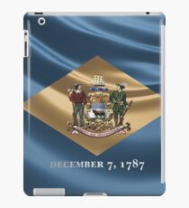 Delaware Coat of Arms over State Flag iPad Case/Skin