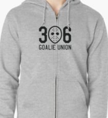 306 Goalie Union (Black) Zipped Hoodie