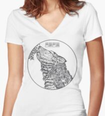 The Howling - Dark Variant Women's Fitted V-Neck T-Shirt