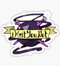 iKnitYouNot/Yarn & Needles Knitting Sticker Sticker