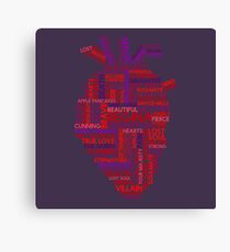 """Regina """"Evil Queen"""" Mills Typography Once Upon A Time Canvas Print"""