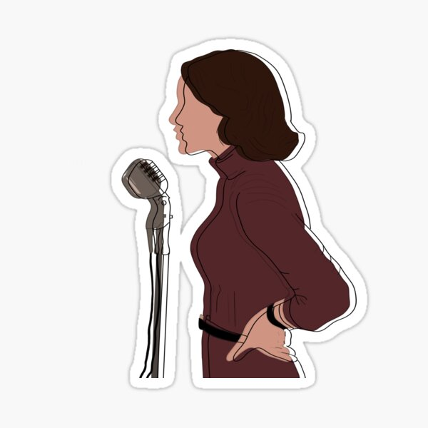 Female Comedienne Sticker