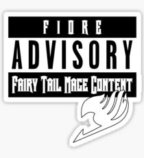 ADVISORY - FAIRY TAIL MAGE Sticker