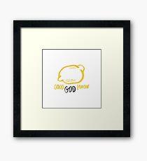 Good God Lemon! - 30 Rock Framed Print
