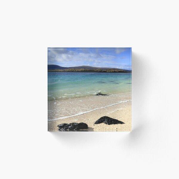 Coral Beach Isle of Skye Acrylic Block