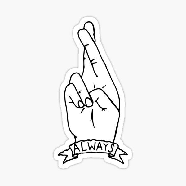 toujours - doigts croisés Sticker
