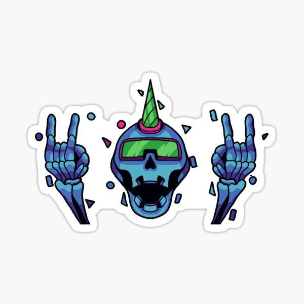 Holo Skull - CyberThugs Sticker