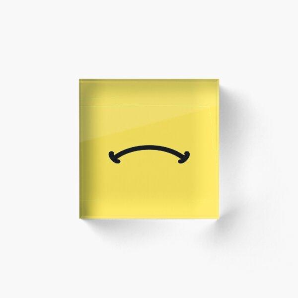 Grumpy face emoji mask | flip it for a happy face Acrylic Block