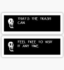 Papyrus - THAT'S THE TRASH CAN Sticker