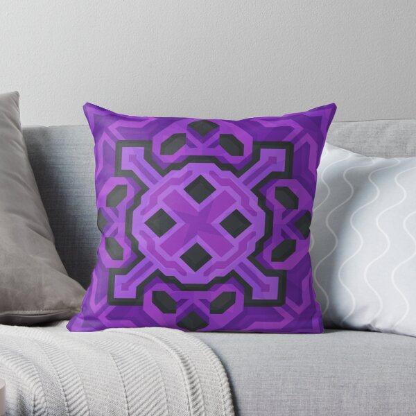 Purple Glazed Terracotta - PureBDcraft Throw Pillow